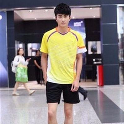 速干羽毛球服男女短袖运动套装夏透气休闲乒乓球衣队服比赛服定制