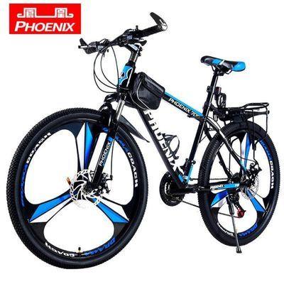 凤凰自行车山地车男女式学生成人少年双碟刹减震变速越野赛车单车
