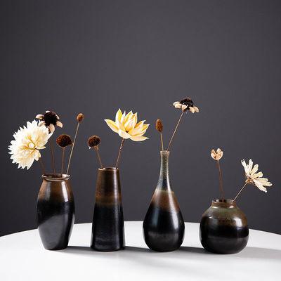 景德镇陶瓷复古花瓶简约干花家居饰品摆件客厅装饰品餐桌插花花器