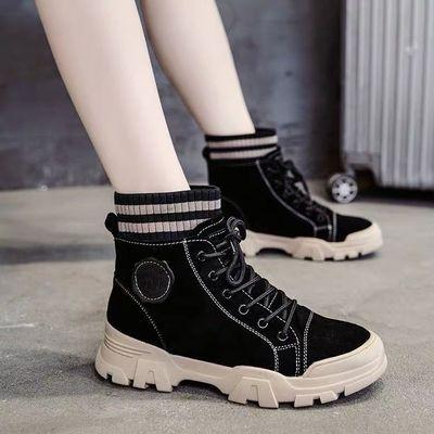 儿童帆布鞋女中小学生中大童鞋秋冬新款百搭韩版高帮布鞋运动鞋女