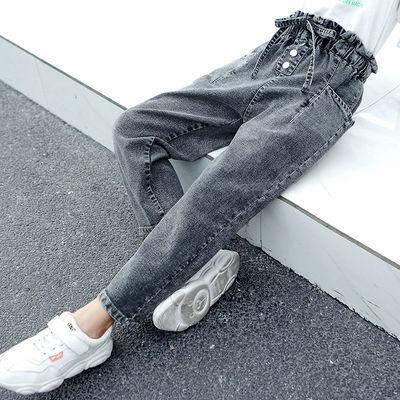 女童牛仔裤2020春秋装新款儿童韩版洋气宽松中大童裤子女孩长裤潮