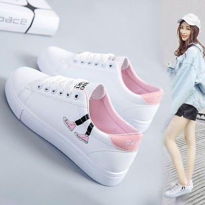 学院风小白鞋女学生春秋季韩版百搭平底休闲运动板鞋大童帆布单鞋