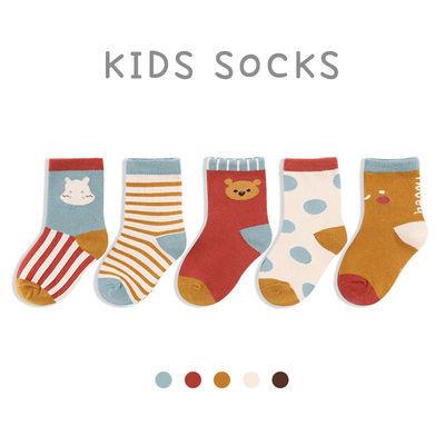 宝宝袜子春秋纯棉薄款卡通可爱儿童袜子中筒袜秋冬季男童女童短袜