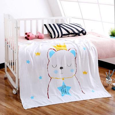 竹纤维冰丝盖毯婴儿童双层纱布浴巾新生宝宝小被子空调被夏季薄款
