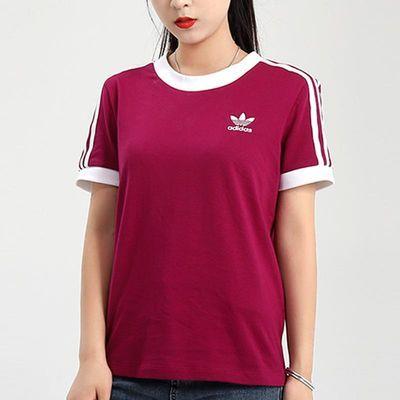 阿迪达斯三叶草女装2020秋新款运动服健身透气半袖短袖T恤GD2443