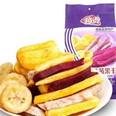 越南进口零食特产越贡综合蔬果干混合冻干果脆蔬菜水果片果蔬干片