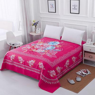 【特价】加厚磨毛床单单件婚庆双人大版床单1.5米1.8米2米疯抢中