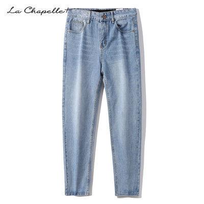 La Chapelle+牛仔裤男直筒宽松学生潮流春秋薄款休闲百搭长裤子男
