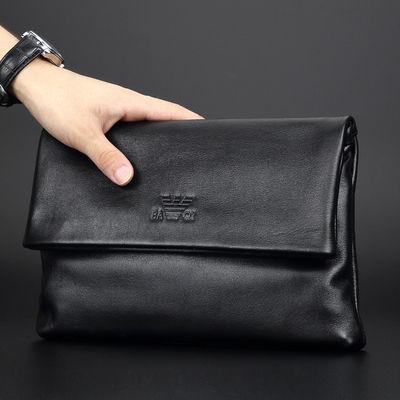 欧美时尚男士手拿包真皮2020新款软皮男包手包头层牛皮夹包潮手抓
