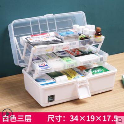 新品药箱家用多层特大号医疗药品小工具收纳盒出诊急救箱家庭儿童