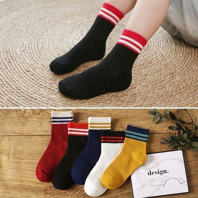 3-10双秋冬儿童袜子吸汗防臭保暖男童女童中大童学生宝宝中筒袜子