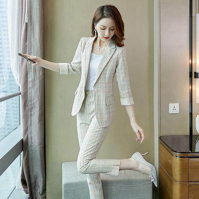 单/套装 西装外套女百搭网红2020春秋新款时尚韩版气质小西服职业