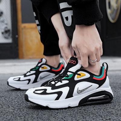 2020新款MAX200气垫鞋网面透气跑步鞋旅游男鞋休闲运动鞋增高女鞋