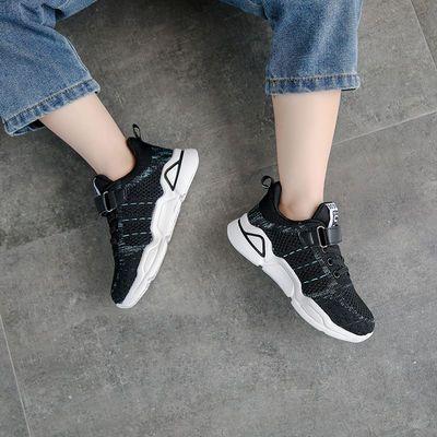 男童鞋子儿童运动鞋2020春秋新款女童中大童网面透气跑步鞋小童