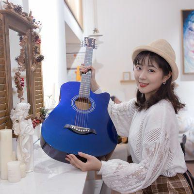 民谣吉他41寸单板吉他初学者学生男女通用新手入门乐器38寸40寸琴