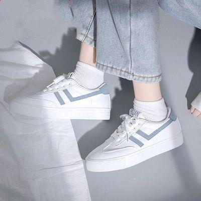 小白鞋女2020新款学生百搭爆款板鞋女ins潮夏季薄款透气平底白鞋