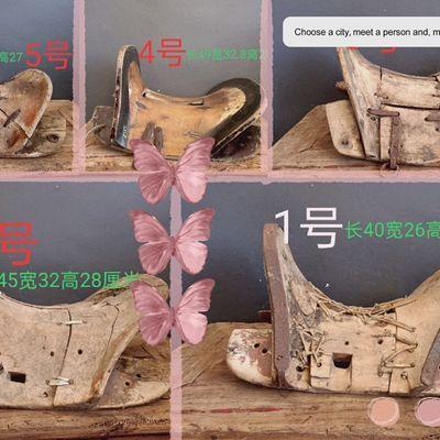 实拍新款实木原木色马鞍子马具古香古色乡下淘来的老物件道具装饰