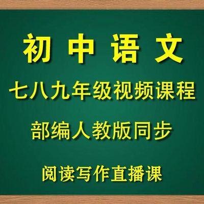 部编版初中语文同步网课辅导视频教学人教版七八九年级高清课程