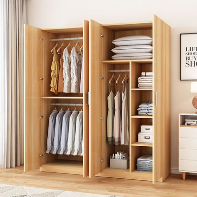 简易衣柜家用卧室经济型出租房用实木板式现代简约小户型收纳柜子
