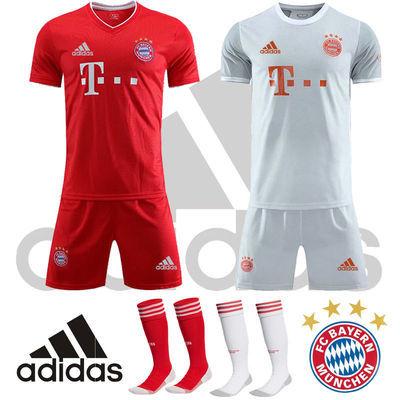 新款拜仁慕尼黑20-21赛季球衣主客场25号穆勒足球服短袖套装成人