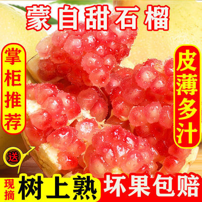 云南蒙自甜石榴水果新鲜孕妇水果应季水果批发 非 突尼斯软籽石榴