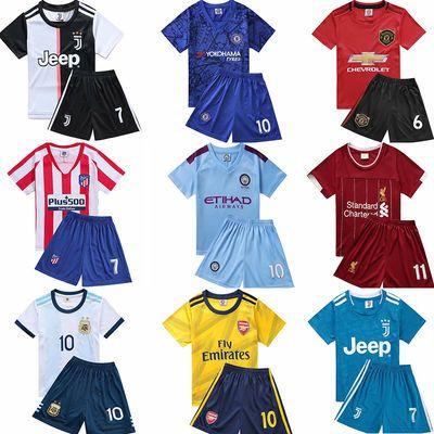儿童足球服男童足球衣中小学生比赛服运动服套装成人足球服可定制