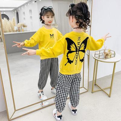 儿童装女童秋装套装2020新款韩版洋气大童春秋季时髦运动两件套装