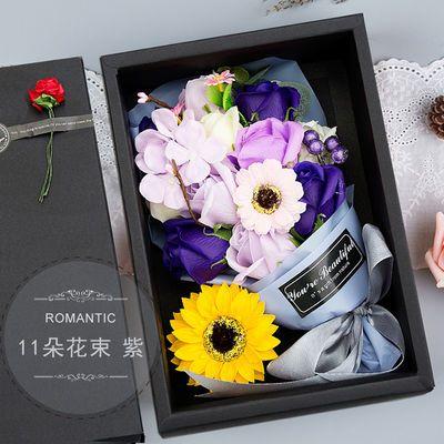 实用diy手工礼物送女朋友闺蜜少女心创意玫瑰花束康乃馨生日礼品