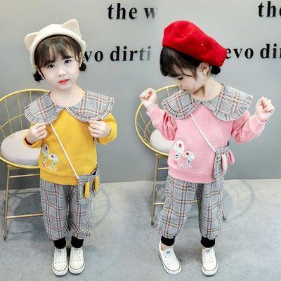 网红女童装2020新款衣服0洋气时髦3岁女宝宝秋季套装1春秋装小童2