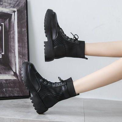 马丁靴女靴子英伦风2020新款春秋季潮ins瘦瘦袜子靴百搭网红短靴