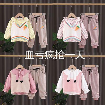 女宝宝春装套装0-5岁小女孩韩版可爱秋款衣服长袖长裤马甲三件套