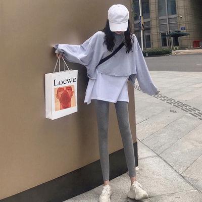 秋季新款套装女卫衣韩版宽松假两件上衣时尚显瘦ins休闲裤子女潮
