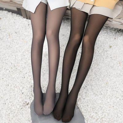 【浪莎】打底裤秋冬假透肉连裤袜空姐灰透肤一体无缝光腿丝袜神器