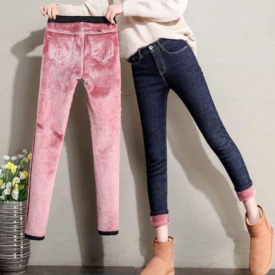 加绒牛仔裤女显瘦显高修身弹力小脚裤2020新款韩版学生百搭铅笔裤