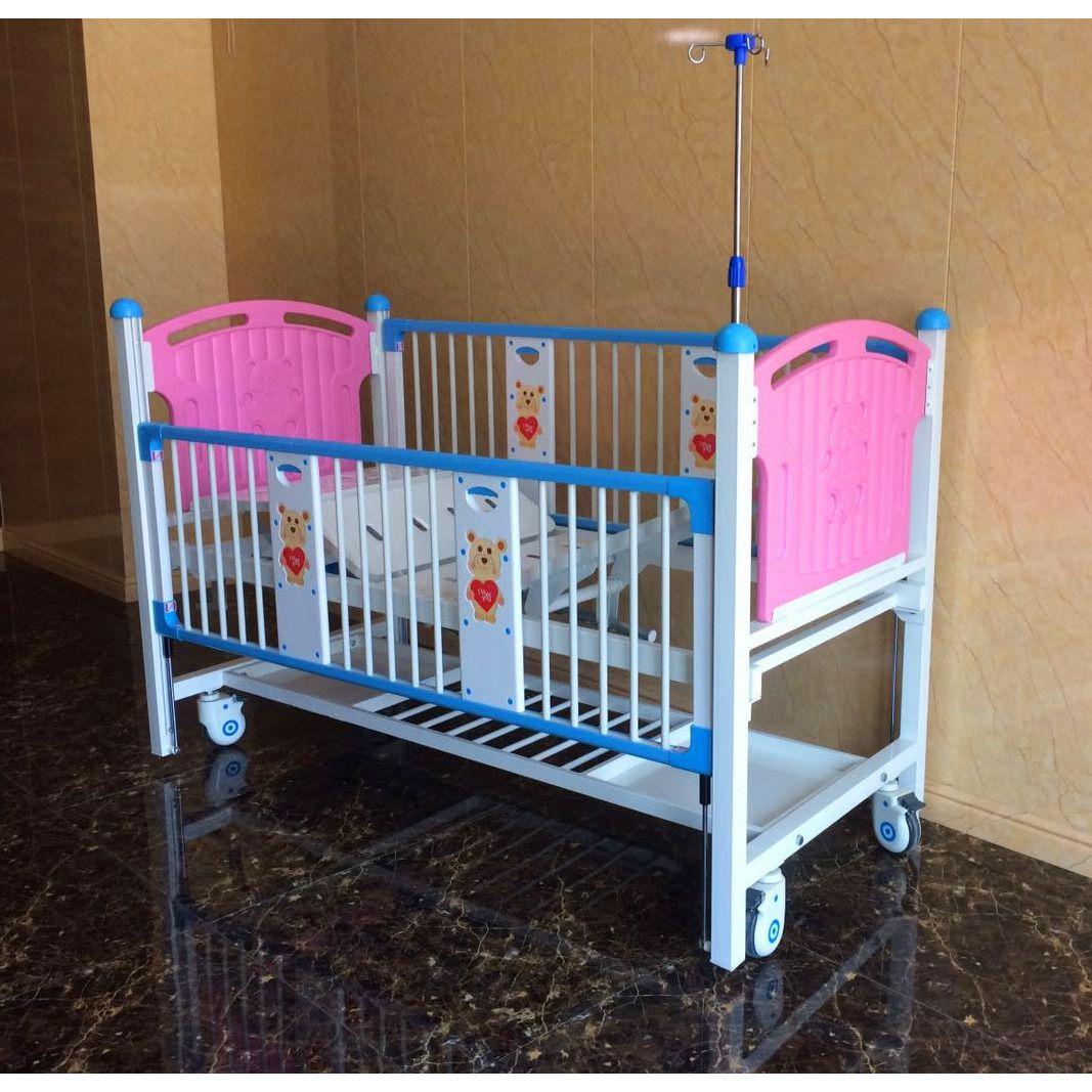 家用双摇儿童床医院用幼儿护理床儿科病床儿童用病床盛德厂家直销