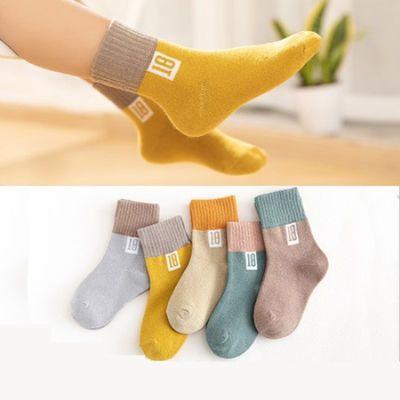 春秋冬儿童袜子厚款舒适保暖男童女童中大童婴儿宝宝中筒袜子
