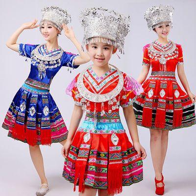 新款成人苗族配饰儿童服饰仿真头饰项圈少数民族服装民族头饰项圈