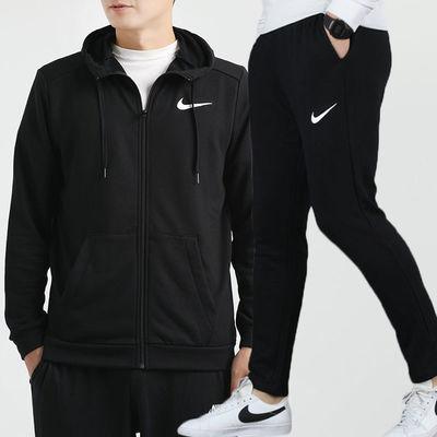 Nike耐克运动套装男装2020秋季新款连帽防风休闲外套跑步长裤