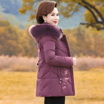 妈妈棉衣秋冬装外套中年羽绒棉服2019新款中老年人女装短款小棉袄