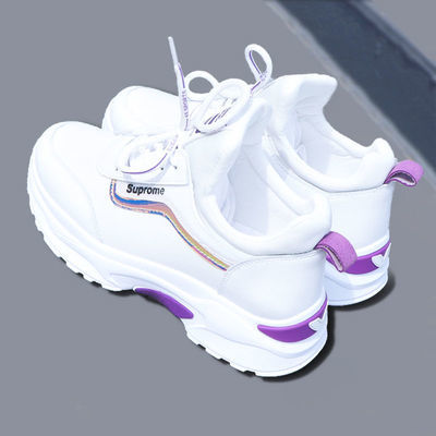 运动鞋女2020冬季女鞋新款加绒棉鞋休闲跑步鞋韩版小白鞋女老爹鞋【12月12日发完】
