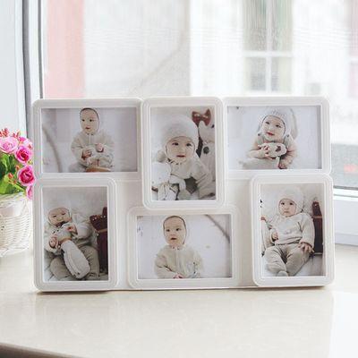 6格4格5格组合连体相框韩式5寸创意婚纱儿童宝宝摆台