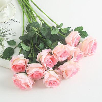 床上卧室清新酒店干花人造花结婚花朵新房玫瑰花假的仿真花束工艺