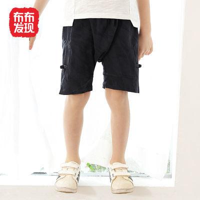 布布发现童装男童短款儿童休闲中裤2020年秋季新款小童舒适短裤