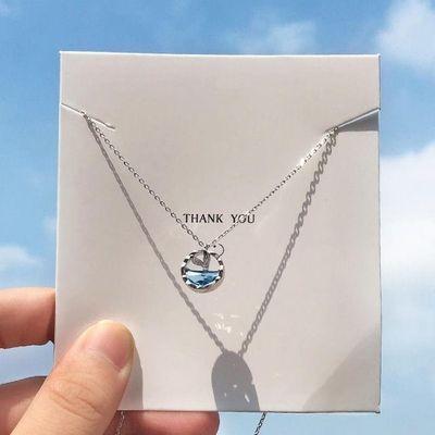 s925纯银项链女生日礼物银河星球环绕吊坠小众设计网红锁骨链闺蜜