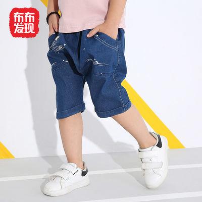 布布发现童装男童牛仔裤儿童中裤中大童五分裤2020年秋季新款