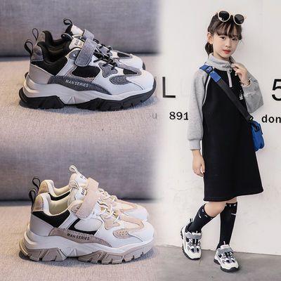 女童老爹鞋男童跑步鞋儿童运动鞋网面秋冬中大童网红童鞋女加绒