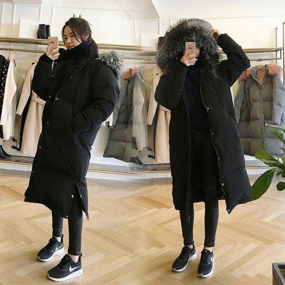 羽绒服女90白鸭绒2020新款韩版宽松保暖中长款加厚过膝外套女冬款