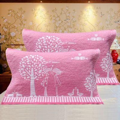 纯棉三层纱布艺枕巾情侣成人单人全棉家庭一对装大枕巾52乘78厘米
