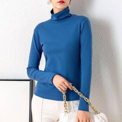 未来品味大码长款纯棉黑色高领打底衫女内搭秋冬长袖韩版t恤薄款