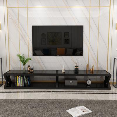 钢化玻璃电视柜茶几组合简约现代小户型北欧轻奢经济型电视机柜子